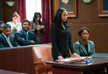 Donovan Christie Jr., Tyler Perry, Bresha Webb and Crystal Fox in a scene from the movie.