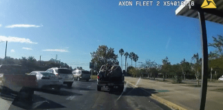 Two suspected thieves led police on a car chase just outside Jacksonville, Florida. (Flagler County Sheriff's Office/Zenger)