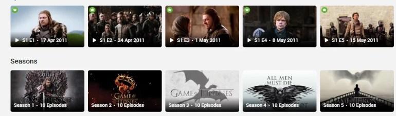Watch Game of Thrones online on Hotstar