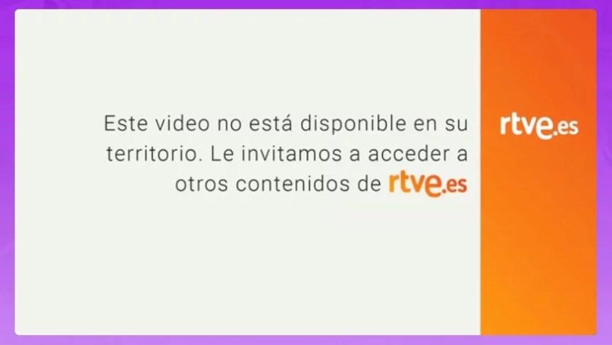 Este video no está disponible en su territorio. Le invitamos a acceder a otros contenidos de rtve.es.
