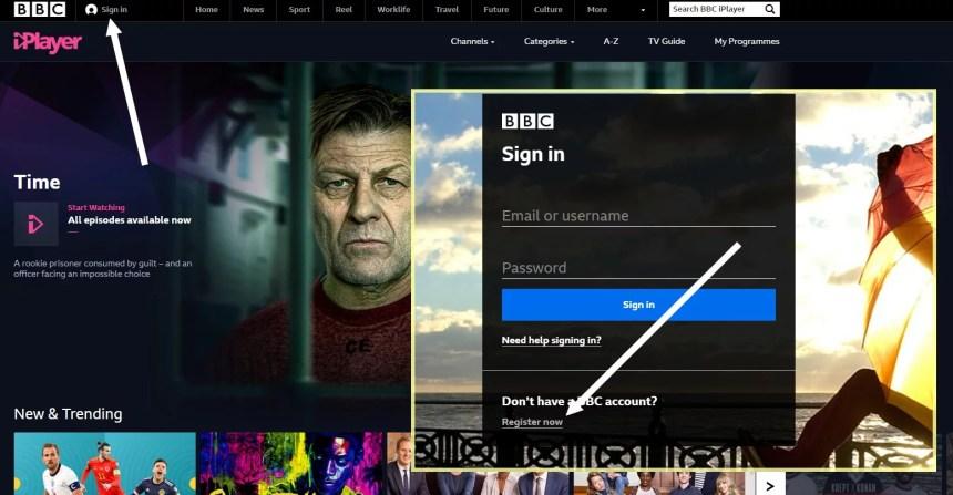 bbc iplayer registration