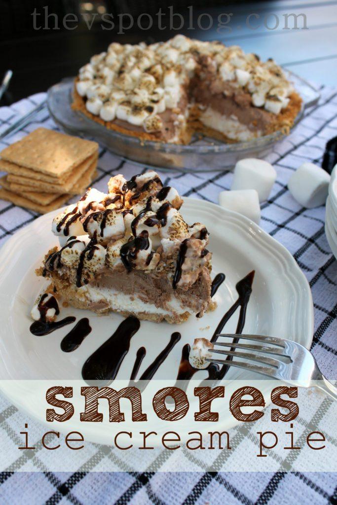 Smores Ice Cream Pie An Easy Summer Dessert The V Spot