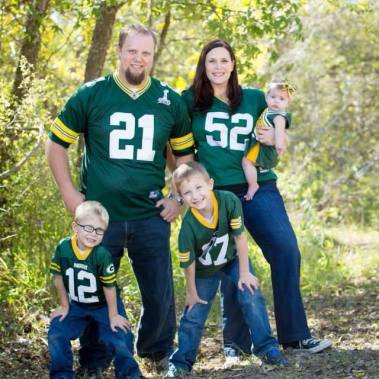 Neil & family Green Bay Packers