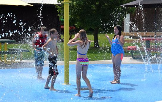 Camp Clay splash pad ribboncutting2 5-29-15
