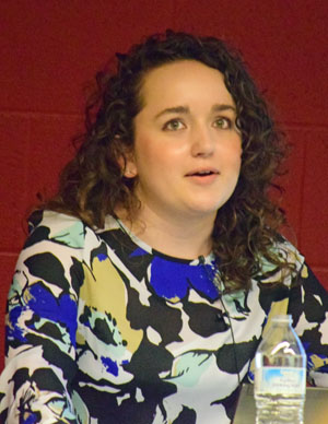 Tessa Elliott, a graduate assistant with the Hospital Council on Northwest Ohio, talked about health information for Van Wert County young people. (Dave Mosier/Van Wert independent)