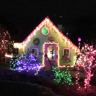 Christmas lights at Smiley Park. (Photo by Rex Dolby.)