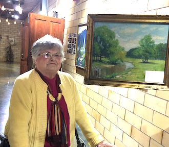 The Betty Woodruff family has donated a painting by Vera Wassenberg for the art center's collection.  (Photo submitted.)