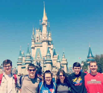 Crestview's show choir and band group visits Disney World in Florida to honor their success this year. (Photo submitted by J. Germann.)