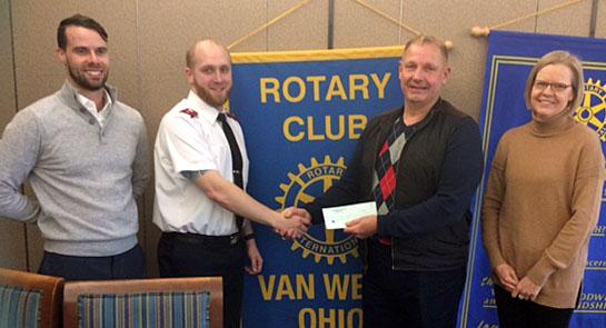 Rotary donates to Salvation Army 3-2017