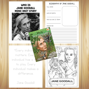 Who Is Jane Goodall Unit Study