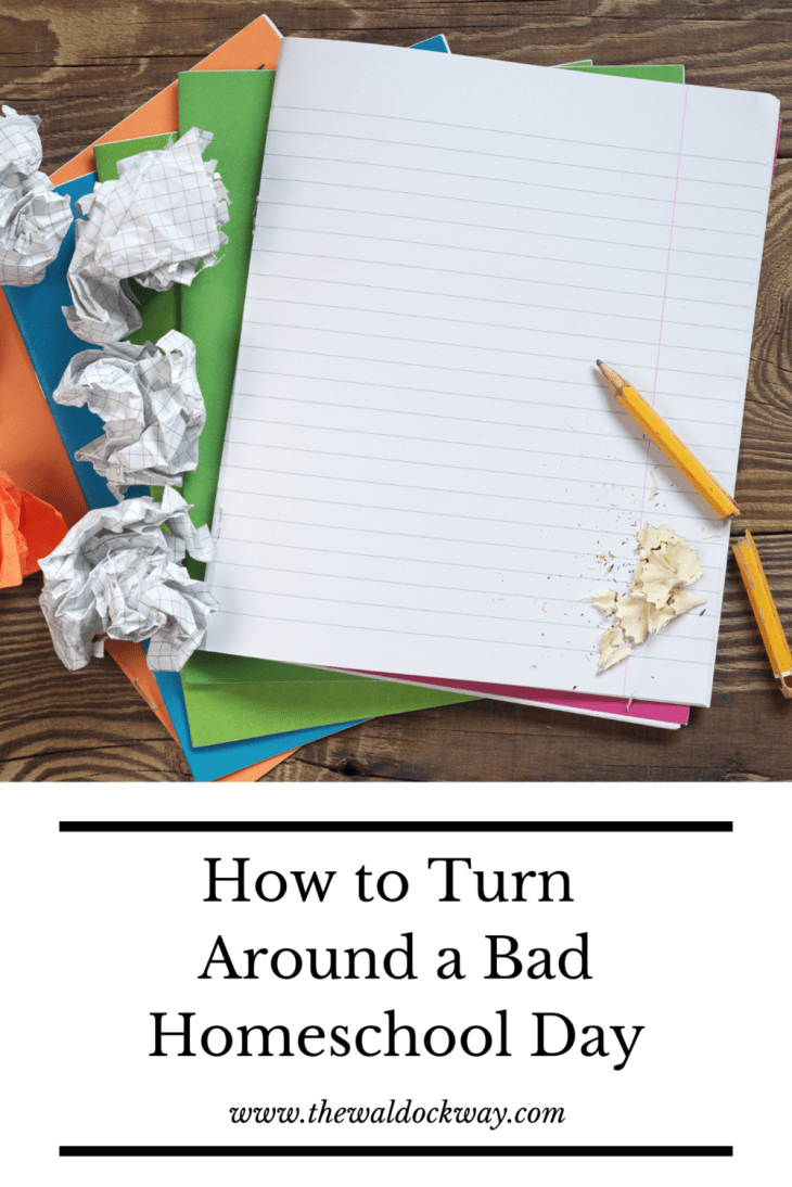 Bad homeschool days are inevitable. When the bad days happen in our homeschool I try to turn them around by using 5 simple tricks.