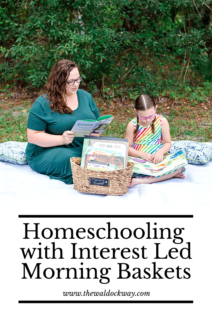A homeschool morning basket is a carefully curated collection of books and activities your child can do independently or together. Morning baskets are the perfect way to incorporate activities your child is interested in outside of lessons.
