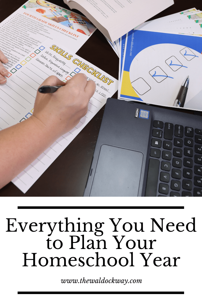 Everything you need to plan the homeschool year. My six simple steps I do every year to plan our homeschool and ensure success.