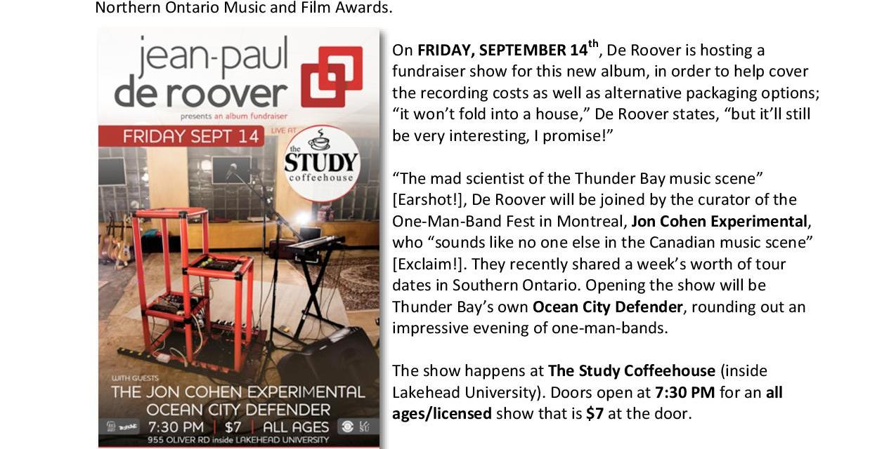 Jean-Paul De Roover – New Album Fundraiser