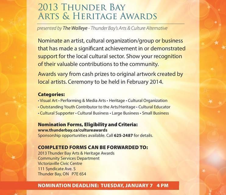 2013 Thunder Bay Arts & Heritage Awards