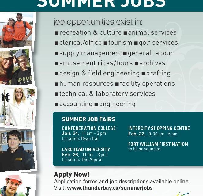 City of Thunder Bay Summer Jobs