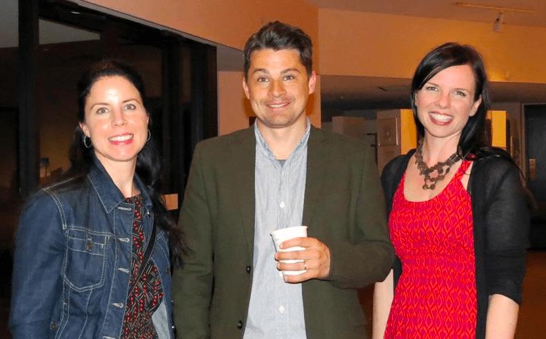 Michael Christie with The Walleye's contributing editor, Rebekah Skochinski (left) and associate editor, Amy Jones (right)