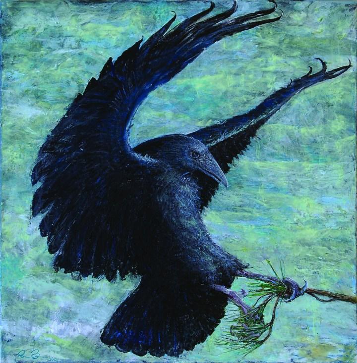 Raven in Wind