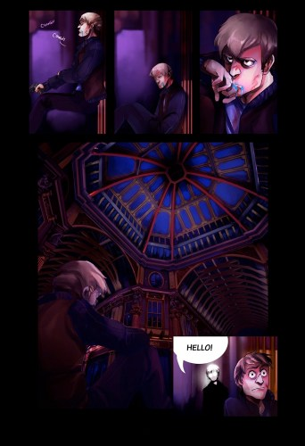 Callen Banning, Comic Page from Exkost, 2013, digital painting, 51 x 76 cm