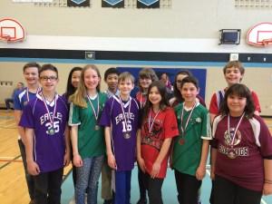 Math Olympics winners