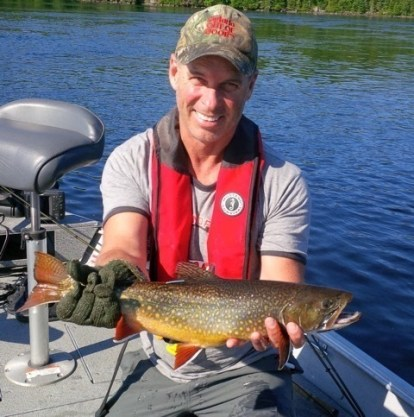 Gord Ellis with a Greenstone Brook Trout