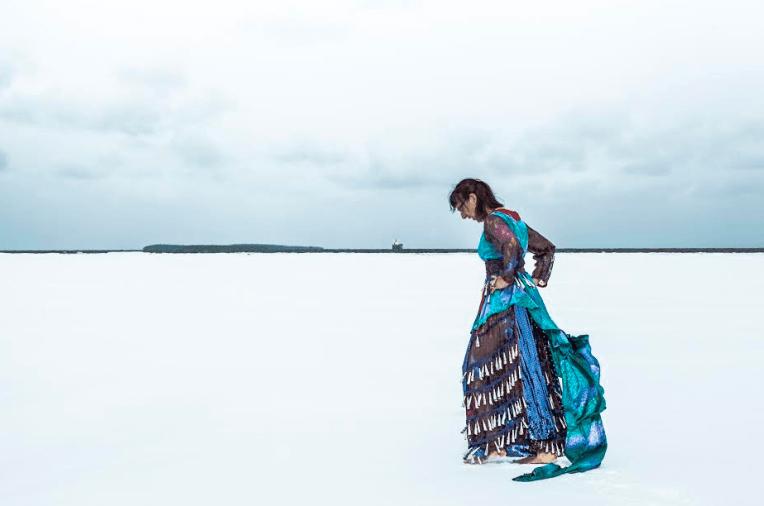 She Swims With Fishes, Leanna Marshall, 2016. Photo by Nadya Kwandibens