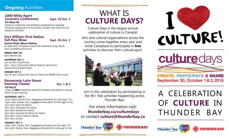Culture Days - Thunder Bay
