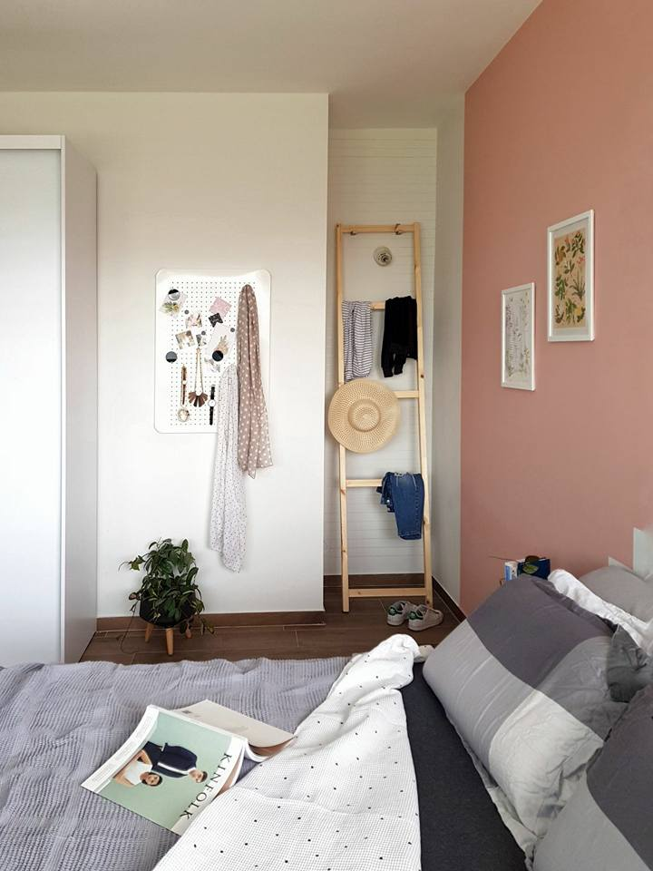 ikea hack clothes rack ladder with
