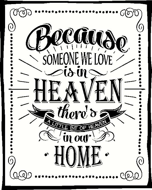 Download Because Someone We Love is in Heaven wall sticker, vinyl ...