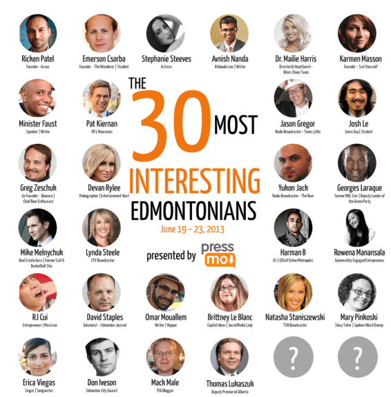 The 30 Most Interesting Edmontonians