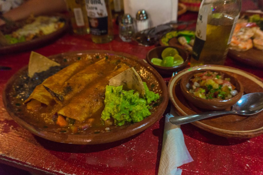 Enchiladas •Top Places to Eat in the Zona Romantica, Puerto Vallarta (with Vegan Options!) | The Wanderful Me