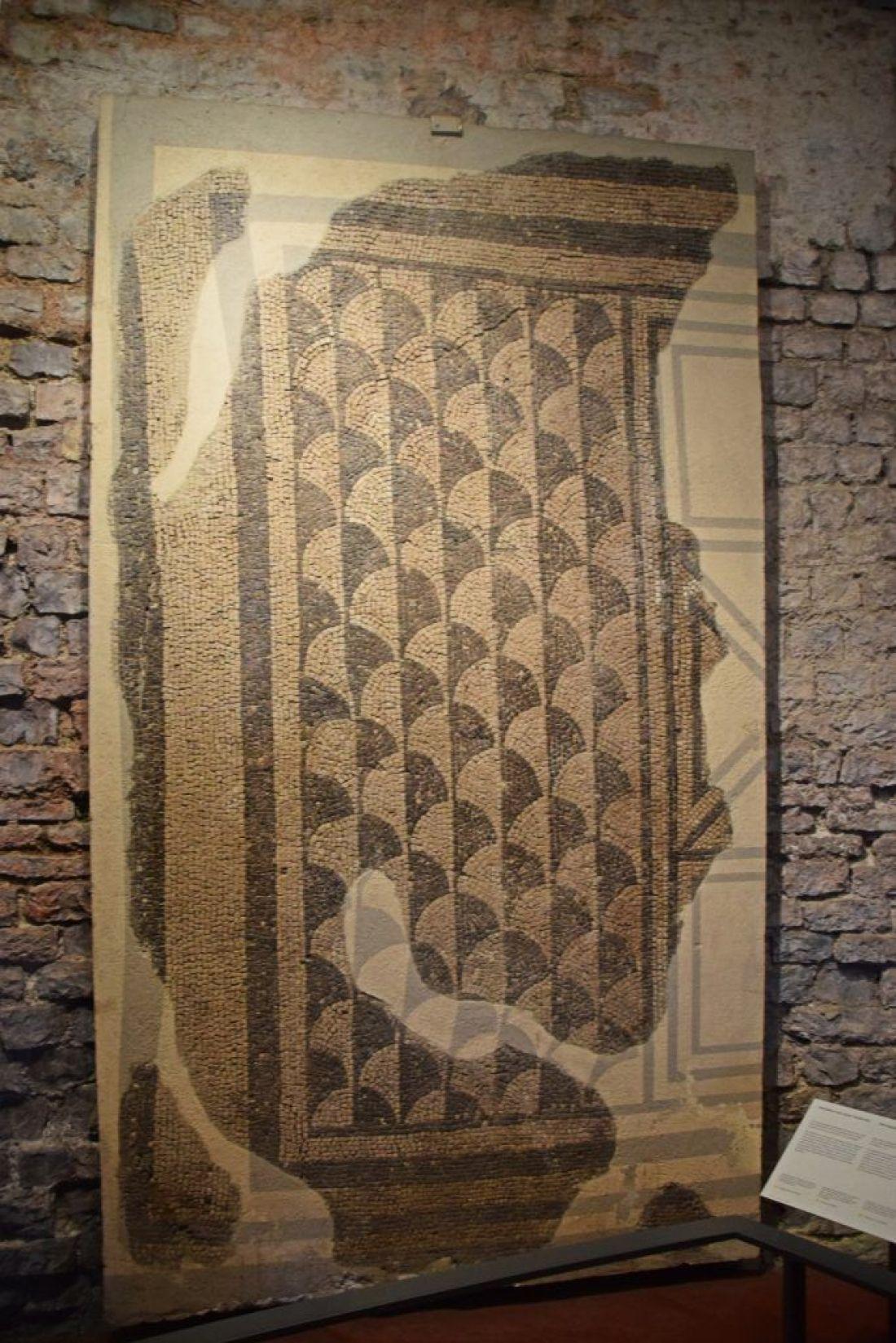 Black and white mosaic, Augusta Raurica, Switzerland
