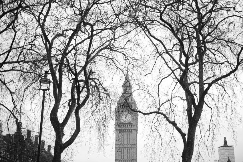 Big Ben photographed from Parliament Square.
