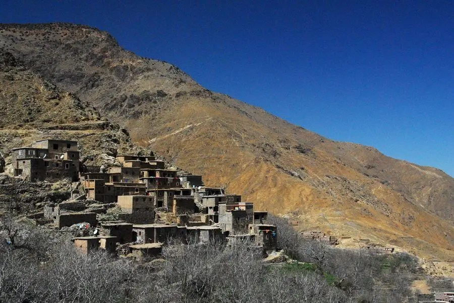 April 2007: A village in the Atlas Mountains of Morocco.