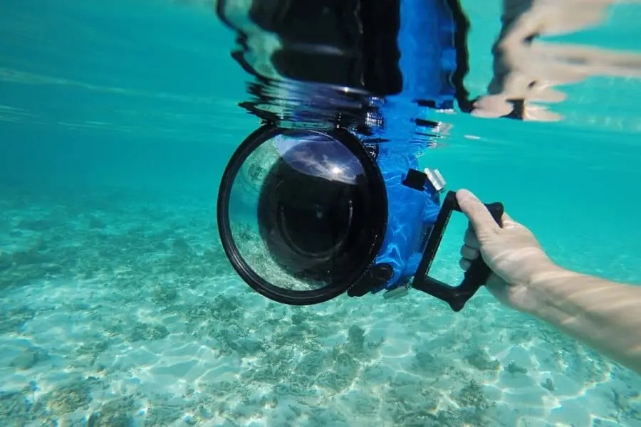 Obviously I'm not going to take a photo of my camera in water without a housing for this article...but imagine this without a waterproof case!?