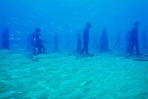 Diving Europe's underwater museum, the Museo Atlantico in Lanzarote, Spain