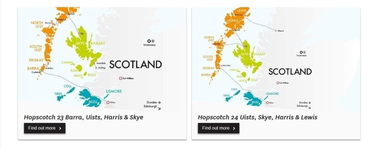 Ferry timetable Isle of Skye to Isle of Lewis and Harris, Scotland travel photos