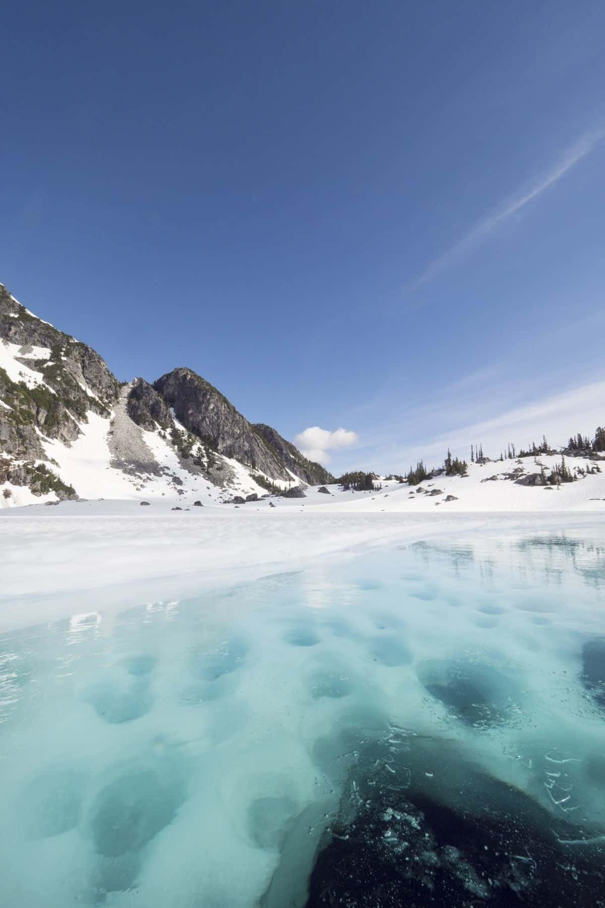 Canada adventure kayaking blue glacial lake streams in British Columbia