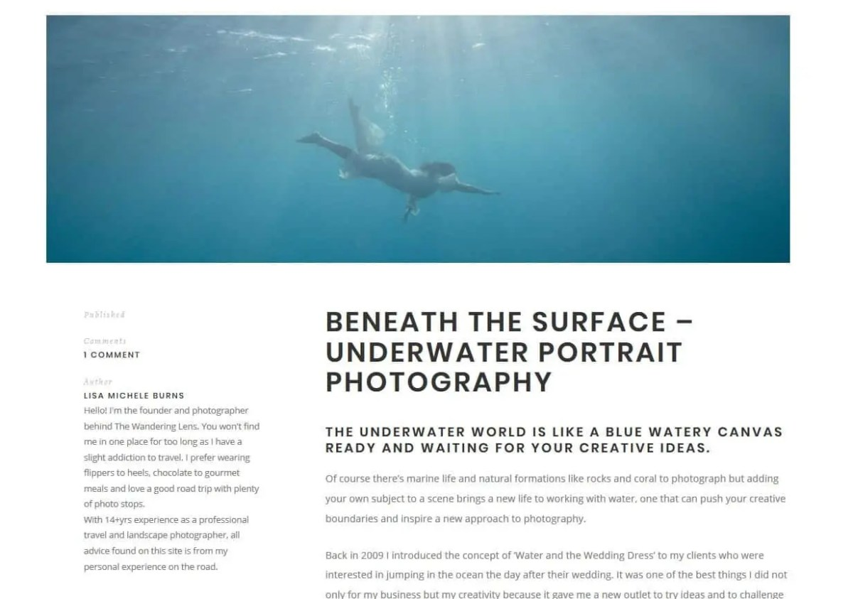 Creating a website to showcase your photography work or add a story to your images
