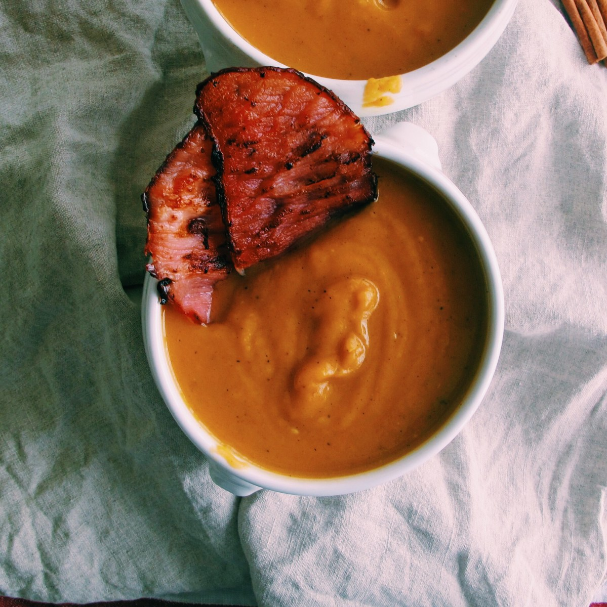 Maple Sweet Potato Soup With Bacon