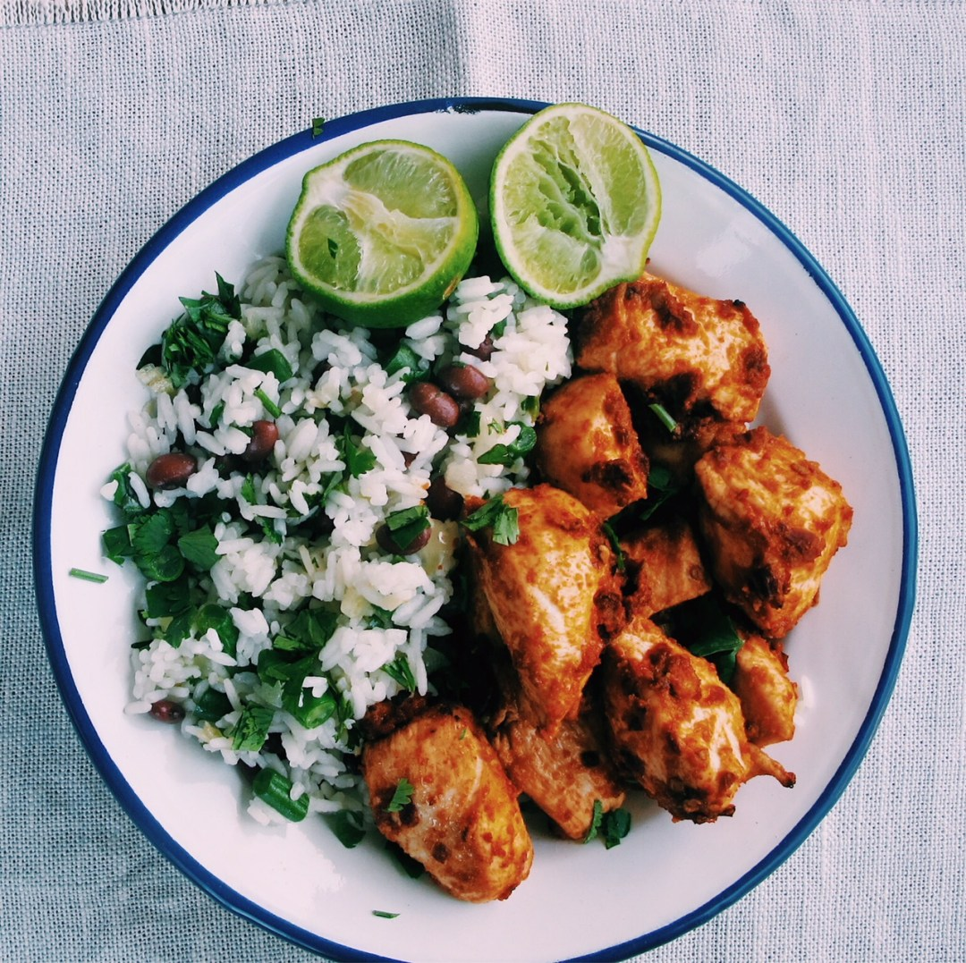 Chipotle Roast Chicken With Mexican Rice