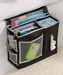 Create more storage space in your RV bedroom with a bedside caddy!