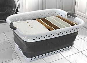 Save space in your RV with a collapsible laundry basket