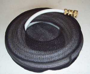 Store your RV hoses in a mesh hose bag