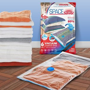 RV space saving idea: Store extra clothes, blankets, and pillows in a vacuum sealed bag