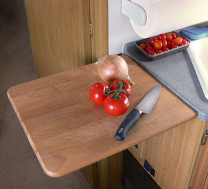 RV Space-saving slide out in the kitchen