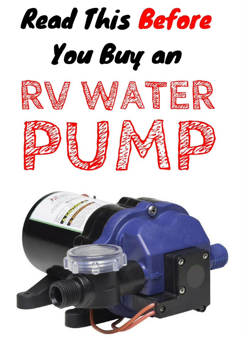 RV Water Pump Buying Guide