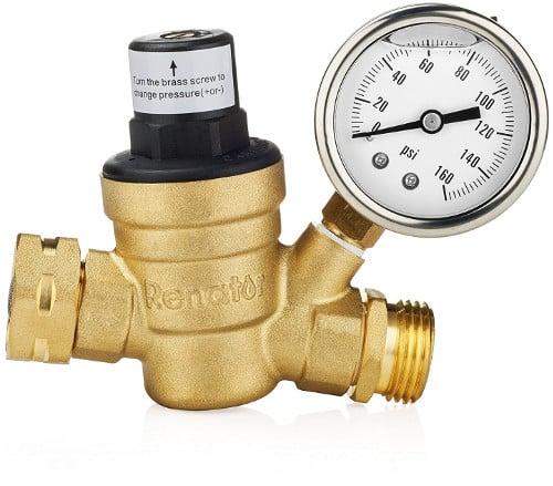 Water Pressure Regulator Valve with Gauge