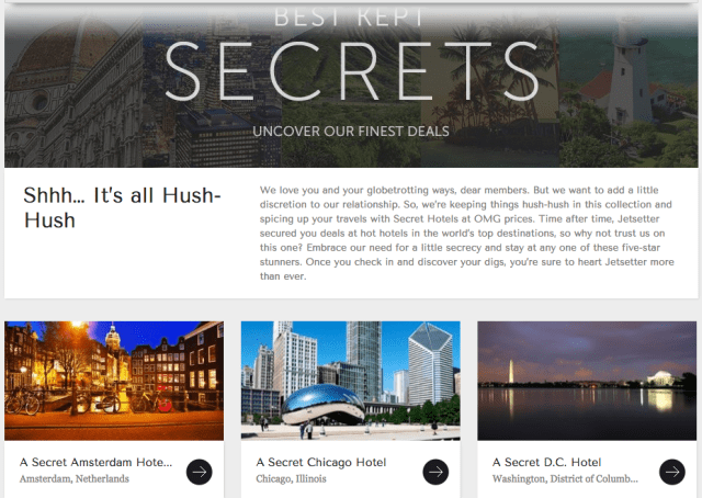 Jetsetter Secret Hotels