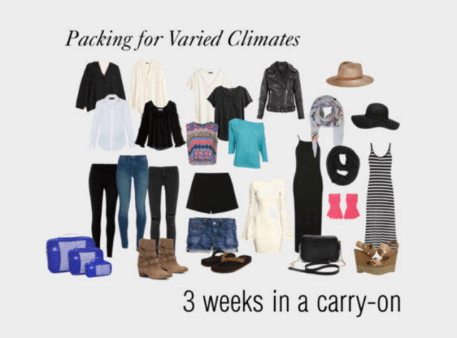 3 weeks in a carry-on